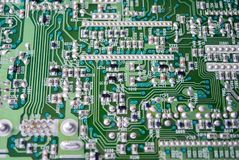 Part of electronic circuit Board Royalty Free Stock Photo