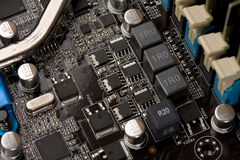 Computer electronic circuit Royalty Free Stock Images