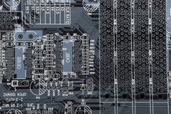 Computer electronic circuit background Royalty Free Stock Photography