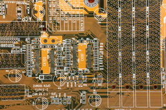 Computer electronic circuit background Royalty Free Stock Images