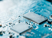 Computer electronic circuit board background Stock Image