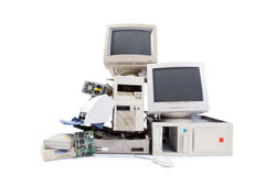 Computer and electronic waste Stock Photo