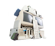 Computer and electronic waste Royalty Free Stock Image
