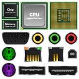 Computer Elements stock illustration