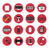 Computer elements and icons flat design vector set Stock Photo