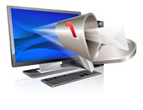 Computer email message concept Royalty Free Stock Photography