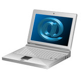 Computer-Email symbol-Laptop-3d Royalty Free Stock Photos