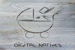 Computer, IT en digitale generatie Royalty-vrije Stock Afbeeldingen