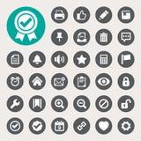 Computer en het pictogramreeks van de toepassingsinterface Stock Afbeelding