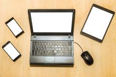 Computer en mobiles stock afbeelding