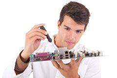 Computer engineer Royalty Free Stock Images