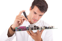 Computer engineer Stock Image