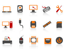 Computer equipment icon color series Royalty Free Stock Photo