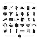 Computer, equipment and other web icon in black style. medicine, holiday, travel icons in set collection. Royalty Free Stock Image