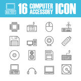 Computer equipment outline icon Stock Image