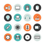 Computer equipment outline icon Stock Images