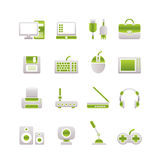 Computer equipment and periphery icons. Icon set Stock Photos
