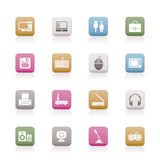 Computer equipment and periphery icons. Icon set Stock Image