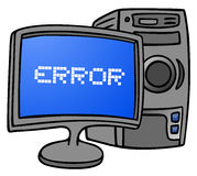 Computer error Royalty Free Stock Images