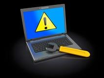Computer error Royalty Free Illustration
