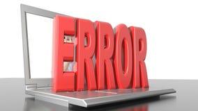 Computer error stock footage