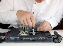 Computer expert Stock Image
