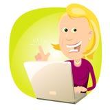 Computer-Experten-Frau Lizenzfreie Stockfotos