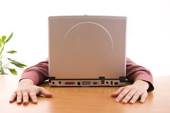 Computer face Stock Photo