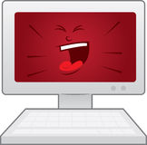 Computer Face Angry Royalty Free Stock Photo
