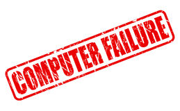 COMPUTER FAILURE red stamp text Stock Image