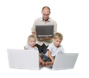 Computer family Stock Images