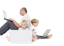 Computer family Stock Photography