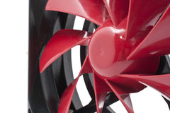 Computer Fan. Red color computer CPU or Case Fan Royalty Free Stock Images