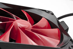 Computer Fan. Red color computer CPU or Case Fan Royalty Free Stock Image