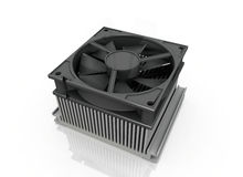 Computer fan. The fan on a white background Stock Images