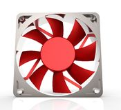 Computer fan for cpu or power supply - isolated on white Stock Photography