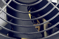 Computer Fan and Grille Closeup Royalty Free Stock Photography