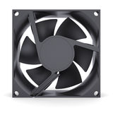 Computer fan. Isolated render on a white background Stock Photos