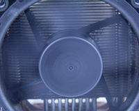 Computer fan, with motion blur on blades Stock Photos