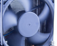 Computer fan, with motion blur on blades Royalty Free Stock Image