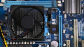 Computer fan spinning stock video