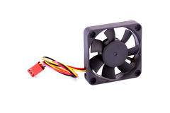 Computer fan with wire isolated Royalty Free Stock Photography