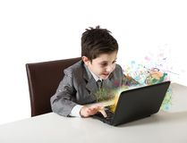 Computer and fantasy Stock Photography