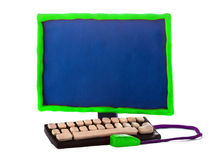 Computer fatto a mano della plastilina Fotografia Stock