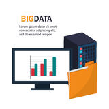 Computer file and big data design Royalty Free Stock Photography
