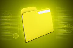 Computer file folder. In color background Royalty Free Stock Photos