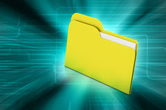 Computer file folder. In color background Stock Photography