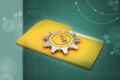 Computer file folder. In color background Royalty Free Stock Images