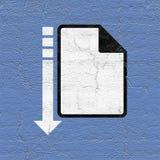 Computer file icon. Design of computer file icon Stock Photos