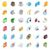 Computer file icons set, isometric style. Computer file icons set. Isometric style of 36 computer file vector icons for web isolated on white background Royalty Free Stock Photography